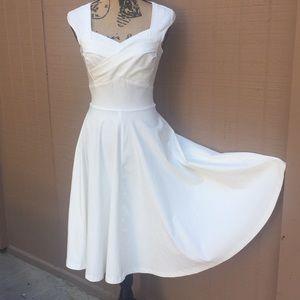 NWT Muxxn White A Line Midi Dress